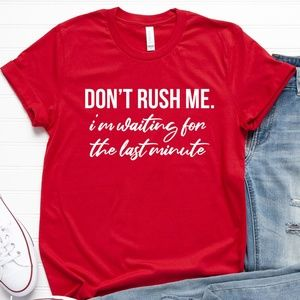 Funny Womens Crewneck Graphic T Shirt Tee Red